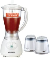Sonashi IOJ-001 300 W Mixer Grinder White, 3 Jars