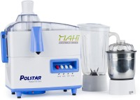 Polstar JMG 111 500 W Juicer Mixer Grinder White, 2 Jars