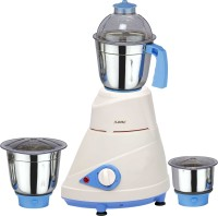 Ndura Blueline 550 W Mixer Grinder White with Blue, 3 Jars