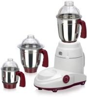 Sowbaghya Stylus Mixer Grinder 550 W Juicer Mixer Grinder White, 3 Jars