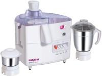 Worldstar Mark1 550 W Juicer Mixer Grinder White, 2 Jars