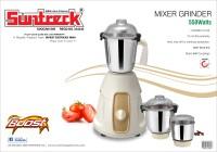 Suntreck Boost 550 W Mixer Grinder White, 3 Jars