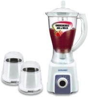 Sonashi SB-148 700 W Mixer Grinder White, 3 Jars