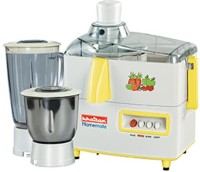 Khaitan Shakthi KJMG-705 450 W Juicer Mixer Grinder White, 2 Jars