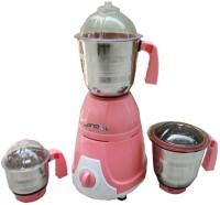 Jindal Pollo 500 W Juicer Mixer Grinder Pink, 3 Jars