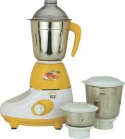 Ruhi AM 10A 500 W Mixer Grinder Yellow, White, 3 Jars