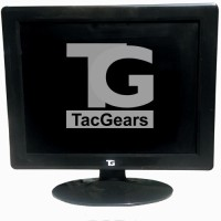 TacGears 15 inch LCD - TG Monitor Black, Grey