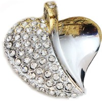 Schnell Heart Shaped Jewel 8 GB Pen Drive Silver