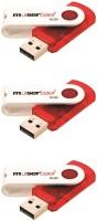 Moserbaer Swivel 8GB Pack of 3 8 GB Pen Drive