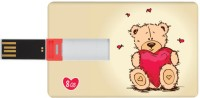 Dizionario Valentine Gifts for Him and Her Teddy Double 8 GB Pen Drive Multicolor