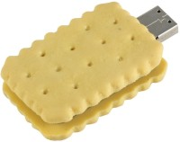BrandAxis Biscuit Shaped USB 8 GB Pen Drive Yellow