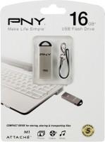 PNY USB Flash Drive M1 Attache 16GB 16 GB Pen Drive Silver