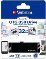 Verbatim Hybrid OTG 32 GB Utility Pendrive Black
