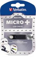 Verbatim Store 'n' Go Micro Plus USB 16 GB Utility Pendrive Black