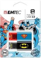 Emtec Batman Superman DUO-combo Pack 8 GB Pen Drive Blue