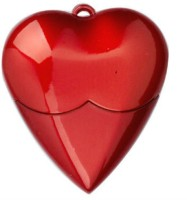 Brandaxis Heart Shape 4 GB Pen Drive Red