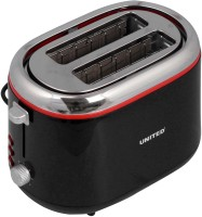 United TA-3001 850 W Pop Up Toaster Black