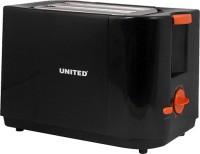 United T-801C 700 W Pop Up Toaster Black