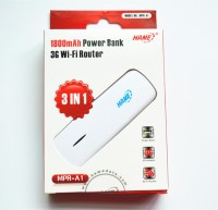 Hame MPR-A1 1800mAh Power Bank 3G Wi-Fi Router 3 in1