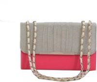 Chispaulo Girls, Women Pink, Silver Polyester, PU Sling Bag