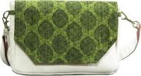 The Potpourri Store Women Green Felt, Cotton Sling Bag