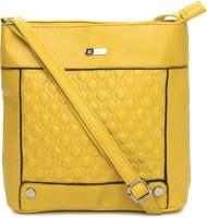 Lavie Women Yellow PU Sling Bag