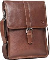 Leather Zentrum Men Brown Genuine Leather Sling Bag