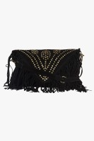 Famous by Payal Kapoor Women Black Leatherette Sling Bag