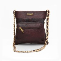 Panashe Women Casual Brown Genuine Leather Sling Bag
