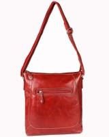 Glety Women Red Leatherette Sling Bag