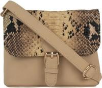 Berrypeckers Women Beige PU Sling Bag