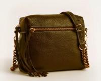 Leahter Women Tan Genuine Leather Sling Bag