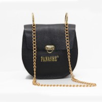 Panashe Women Casual Black Genuine Leather Sling Bag