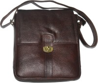 HugMe.fashion Men, Women Brown Genuine Leather Sling Bag