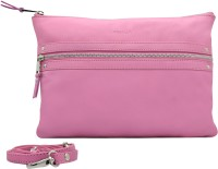 Cecille Women Casual Pink Genuine Leather Sling Bag