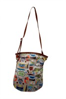Shor Sharaba Women Casual Multicolor Linen Sling Bag