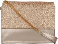 Berrypeckers Women Gold PU Sling Bag