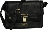 M A R L A LONDON Women Black PU Sling Bag