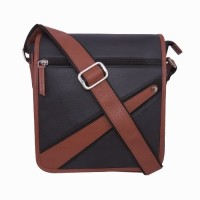 Chimera Leather LMB160571410 Sling Bag Black, Tan