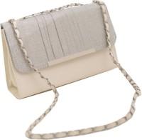 Chispaulo Girls, Women White, Silver Polyester, PU Sling Bag