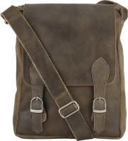urban kings Women Brown Genuine Leather Sling Bag