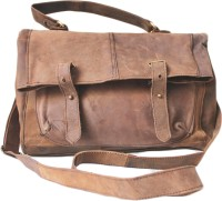 NK Vintage Leather Men Brown Genuine Leather Sling Bag