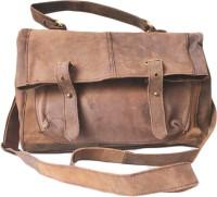 NK Vintage Leather Men Brown Genuine Leather Sling Bag