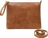 Cecille Women Tan Genuine Leather Sling Bag