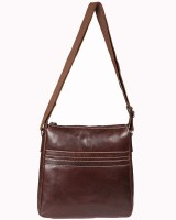 Glety Women Brown Leatherette Sling Bag