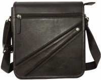 Chimera Leather Men, Women Casual, Formal Black Leather Sling Bag