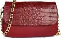Gripp Girls, Women Maroon Genuine Leather Sling Bag