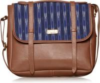 Paprika Women Blue Leatherette Shoulder Bag