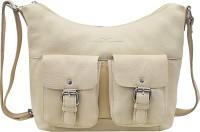 Urban Forest Women White Genuine Leather Sling Bag