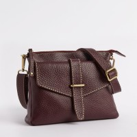 Leahter Women Brown Genuine Leather Sling Bag